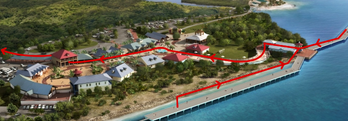 Mahogany Bay Pickup Map
